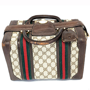 Authentic Vintage GUCCI 3-lock Train Case - Travel Bag