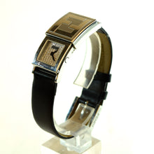 Load image into Gallery viewer, FENDI Ladies Orologi 5400L Diamond Pave Secret Watch Black Leather Band