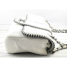Load image into Gallery viewer, Chanel White Lambskin Madison Medium Flap Bag