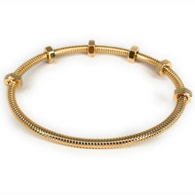 Load image into Gallery viewer, Cartier 18K Yellow Gold Ecrou De Cartier Bangle Bracelet