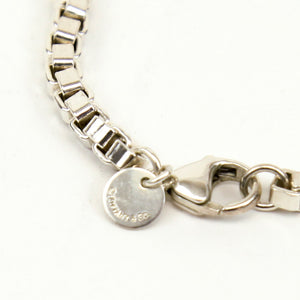 Tiffany & Co Authentic Venetian Box Chain Bracelet with Bag