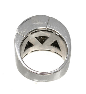 Geometric 18K White Gold & Diamond Ring - 2.00ctw