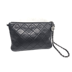 Chanel Quilted Lambskin Mineral Nights Mini Wristlet Pouch