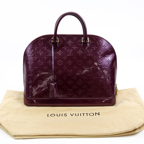 Louis Vuitton Purple Vernis Monogram Leather Alma Handbag