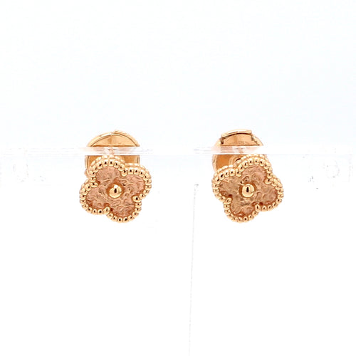 Van Cleef & Arpels 18K Rose Gold Alhambra Earrings