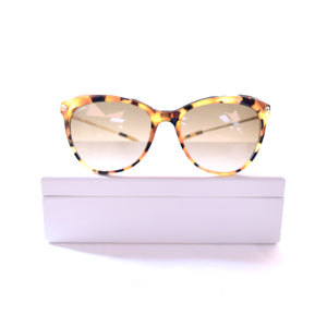 Loewe SLW880 Leopard Colored Oversized Sunglasses