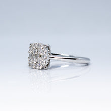 Load image into Gallery viewer, 18K White Gold Invisible Set 0.70ctw Diamond Cocktail Ring- Sz. 6¼