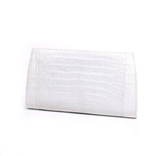 Load image into Gallery viewer, Nancy Gonzalez White Crocodile Slicer Clutch Bag