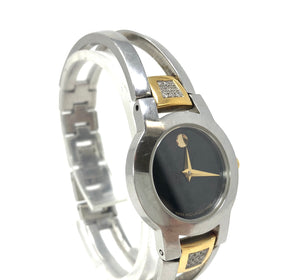 Movado Stainless Steel Diamond Ladies Museum Watch 91.E4.1842