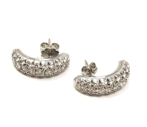 Fred Estate 3.00ctw Diamond Platinum Earrings 9.3 Grams