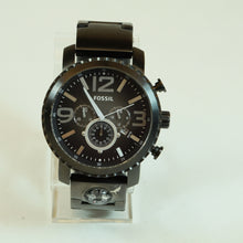 Load image into Gallery viewer, Fossil Mens Gage Black Dial Stainless Steel Compass Chronograph Wristwatch