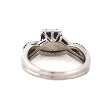 Load image into Gallery viewer, 14K White Gold Princess Cut Halo Engagement Ring - 0.75ctw