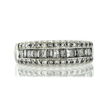 Load image into Gallery viewer, 14K White Gold 1.00ctw 1/2 Eternity Diamond Ring- Sz. 6.5