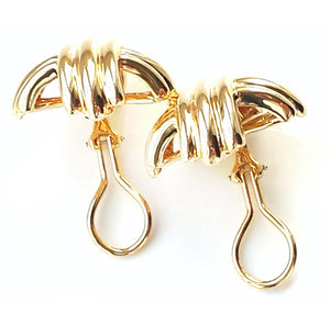 Tiffany & Co 18K Yellow Gold Signature X Earrings