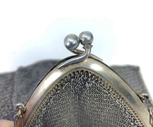 Antique Victorian Chatelaine Chain Mesh Coin Purse