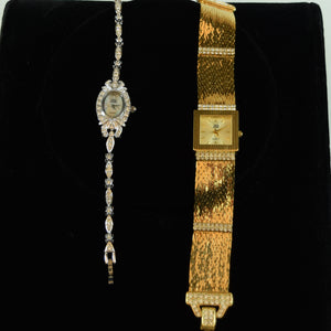 Nolan Miller Costume Jewelry Watches Japan Movement Set of 2
