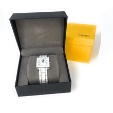Load image into Gallery viewer, Fendi White Ceramic And Stainless Steel Quadro Women's Wristwatch 25 mm