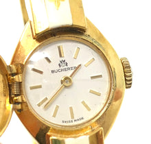 Load image into Gallery viewer, Bucherer Stainless Steel Yellow Gold Fleuer De Lis Ladies Cuff Watch