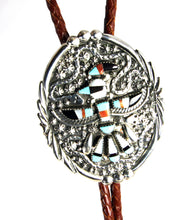 Load image into Gallery viewer, Vintage Zuni Inlay Bolo Tie & Watch Tips