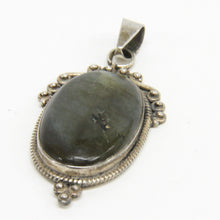 Load image into Gallery viewer, Sterling Silver Oval Labradorite Pendant