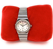 Load image into Gallery viewer, Omega Women's Stainless Steel Diamond Constellation Wristwatch