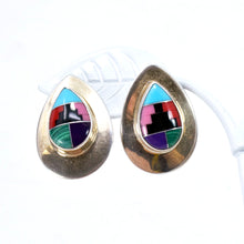 Load image into Gallery viewer, Native American Sterling Silver and Turquoise Earrings and Ring Set