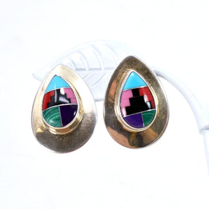 Native American Sterling Silver and Turquoise Earrings and Ring Set