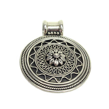 Load image into Gallery viewer, Sterling Silver Filigree Medallion Pendant