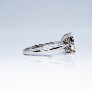 18K White Gold Invisible Set 0.70ctw Diamond Cocktail Ring- Sz. 6¼