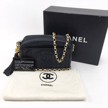 Load image into Gallery viewer, Vintage Chanel Vertical Quilt Tassel Camera Bag