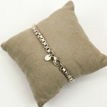 Load image into Gallery viewer, Tiffany & Co Authentic Venetian Box Chain Bracelet with Bag