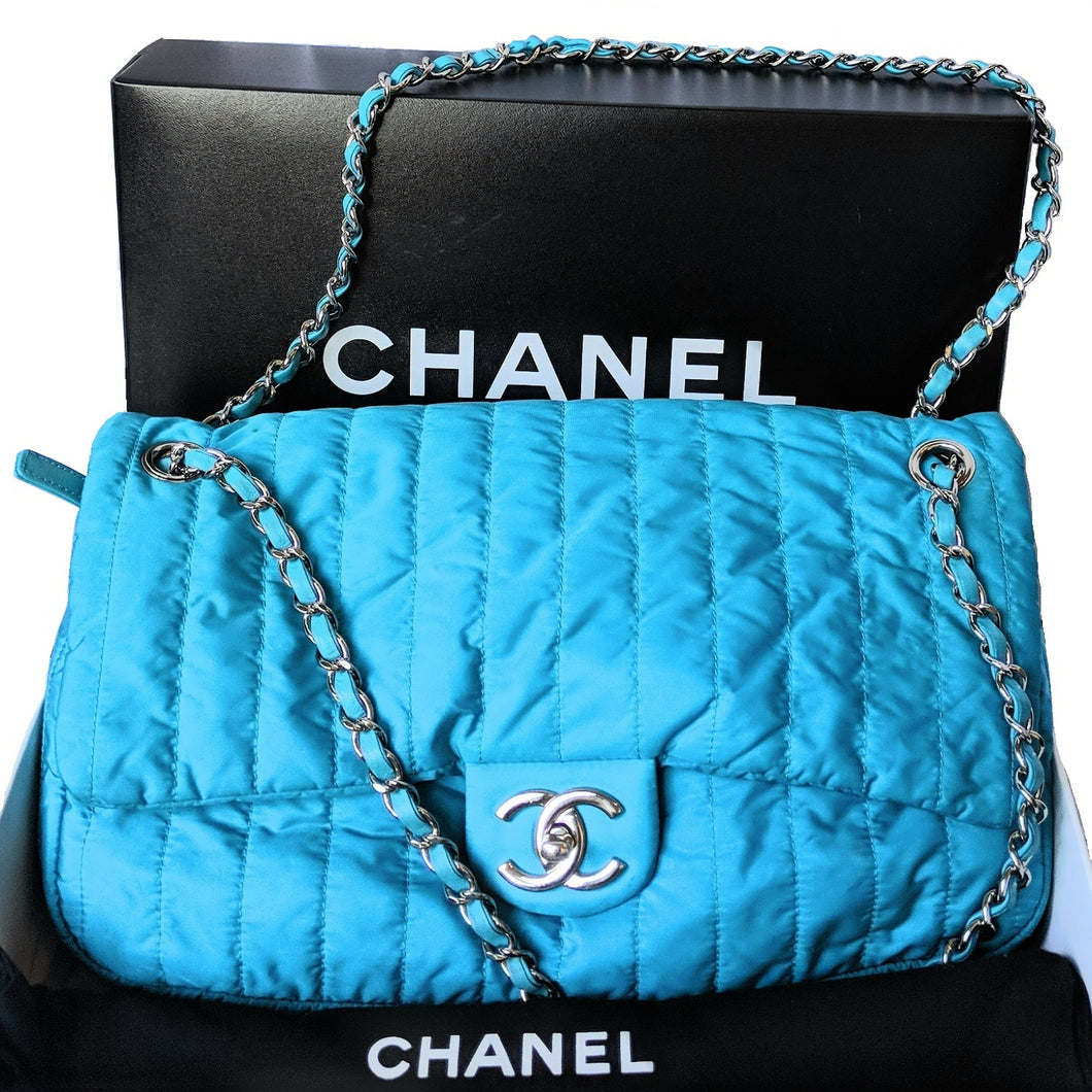 Chanel Soft Shell Flap Bag Vertical Quilted Nylon Jumbo
