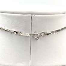Load image into Gallery viewer, Tiffany & Co. Sterling Silver Bar Pendant 1837 Snake Chain Necklace