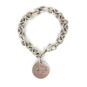 8903d12c5 Tiffany & Co. Sterling Silver Return To Tiffany Round Tag Bracelet ...