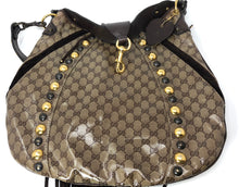 Load image into Gallery viewer, Gucci Beige/Ebony GG Crystal Babouska Large Indy Hobo Bag