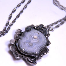 Load image into Gallery viewer, Handmade Silver and Natural Crystal Pendant on Sterling Silver Chain Necklace