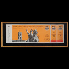 Load image into Gallery viewer, Muhammad Ali Opening Day Olympic Collage Commemorative Boxing Trunks & 1960 Olympics Ticket