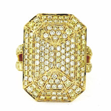 Load image into Gallery viewer, 18K Yellow Gold 2.38ctw 160 Stone Pavé Diamond Cocktail Ring- Sz. 6.5