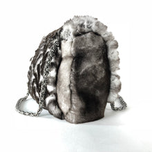 Load image into Gallery viewer, Chanel Limited Edition Black & White Lapine Fur Handbag