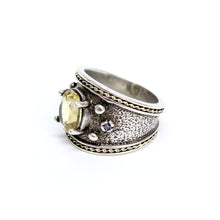 Load image into Gallery viewer, Silver/14k Yellow Gold Yellow Quartz Fashion Ring