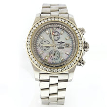 Load image into Gallery viewer, Breitling Super Avenger 48mm Mens Watch A13370 w/ Custom MOP Diamond Dial & Diamond Bezel