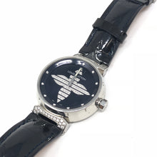 Load image into Gallery viewer, Louis Vuitton Tambour Forever MM Quartz Enamel Leather Ladies Watch