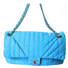 Load image into Gallery viewer, Chanel Soft Shell Flap Bag Vertical Quilted Nylon Jumbo