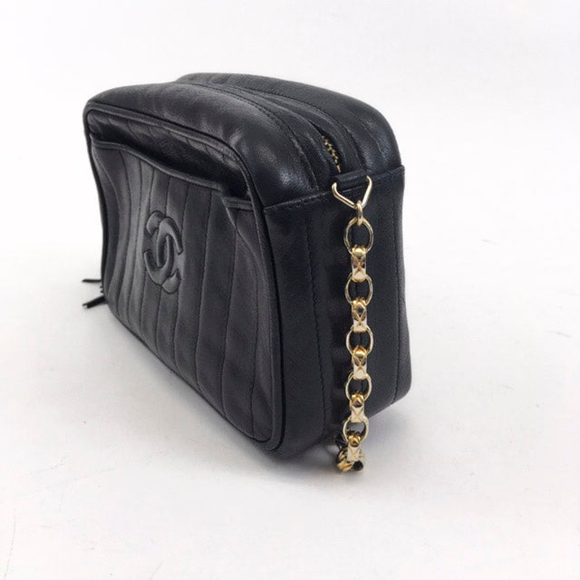 bef7cfa1 Vintage Chanel Vertical Quilt Tassel Camera Bag