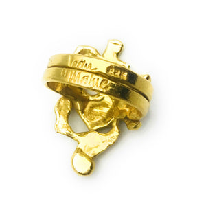 Jean Mahie 22k Gold Sculpted Figure Ring, Size 4.5