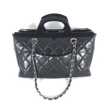 Load image into Gallery viewer, Chanel Black Glazed Calfskin CC Deliver Small Shopping Tote