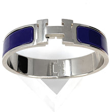 Load image into Gallery viewer, Hermès Clic Clac Silver Palladium H Bracelet - Purple