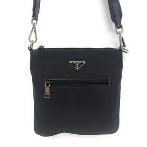 Prada Vela Crossbody Black Nylon Bag