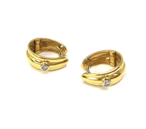 18K Yellow Gold 0.15ctw Diamond Perfecta Earrings
