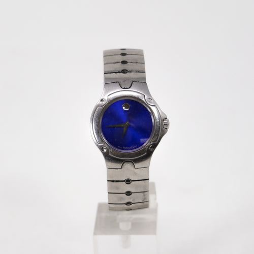 Movado Ladies SE Sports Edition Blue Sunburst Dial Stainless Steel 84 G4 1851